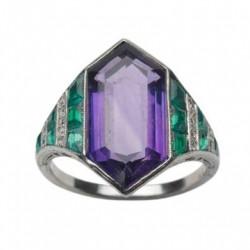 VAN ClEEF & ARPELS-Améthyste-tourmalines-diamants-bague