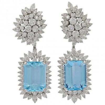 VAN ClEEF & ARPELS-Aquamarine-diamants-broche