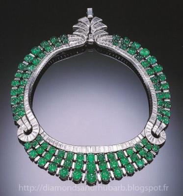 VAN ClEEF & ARPELS-Art Deco-diamant-émeraude-collier