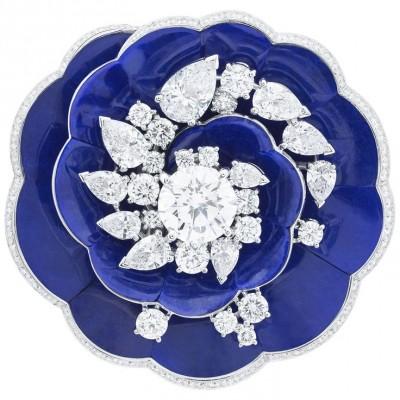 VAN ClEEF & ARPELS-Collection Pierres de Caractere-Fleur de Lapis Lazuli-diamants