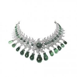 VAN ClEEF & ARPELS-Collier Baroda-émeraude-diamants