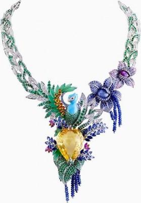 VAN ClEEF & ARPELS-Collier Splendeur Africaine-saphir jaune 82.68 carat-saphirs de couleurs-émeraudes-diamants-chrysoprase-turquoise