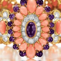 VAN ClEEF & ARPELS-Corail-diamants-améthyste-bracelet