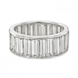 VAN ClEEF & ARPELS-Diamant naguette-bague éternité