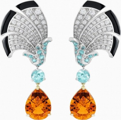 VAN ClEEF & ARPELS-Everlasting Light set-collection Palais de la chance-diamants-tourmaline-onyx-grenat mandarin