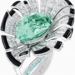 VAN ClEEF & ARPELS-Everlasting Light set-collection Palais de la chance-onyx-diamant-tourmalines
