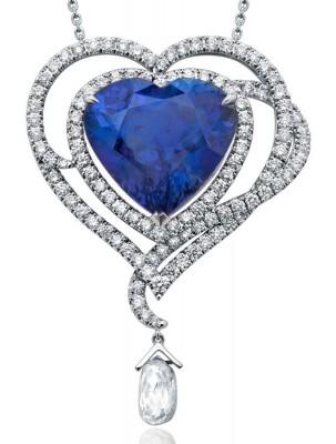 VAN ClEEF & ARPELS-Pendentif-tanzanite-diamants-diamants