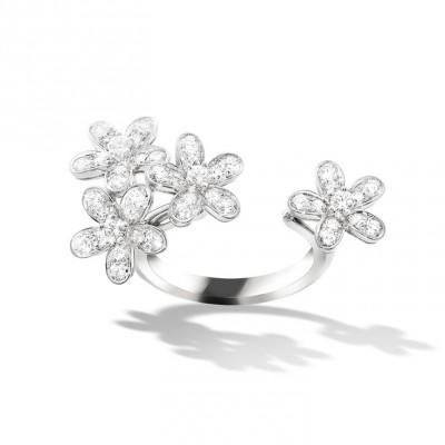 VAN ClEEF & ARPELS- Socrate Between the Finger-bague-or blanc-diamants