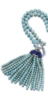 VAN ClEEF & ARPELS-Turquoises-lapis lazuli-diamants-sautoire-1929