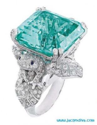 VAN ClEEF & ARPELS-bague-tourmaline-diamants