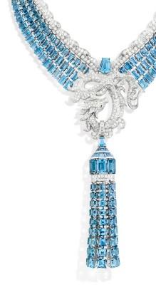 VAN ClEEF & ARPELS-collection Les Voyages Extraordinaires-diamants-aigues marines-or blanc