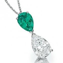 VAN ClEEF & ARPELS-diamant-émeraude-pendentif-collier