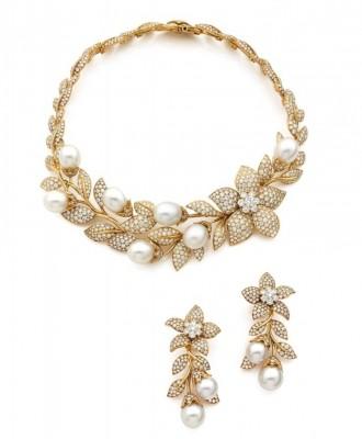 VAN ClEEF & ARPELS-diamant-perle de culture-or-jaune-joaillerie