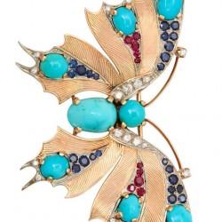 VAN ClEEF & ARPELS-diamants-turquoises-saphirs-rubis
