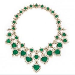 VAN ClEEF & ARPELS-or-émeraaude-diamant-collier