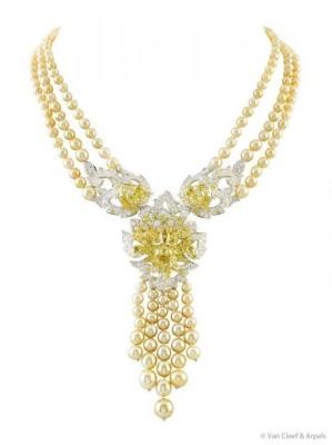 VAN ClEEF & ARPELS-peles gold-diamants canari