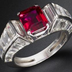 VAN ClEEF & ARPELS-ruby-diamants-bague