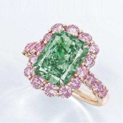 rora Green 5.03ct diamond