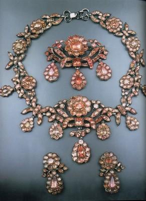 parrure-topaze rose-style geogien-circa 1741-1830