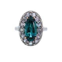 IVY-Indigolite Tourmaline-spinelle-diamants-bague