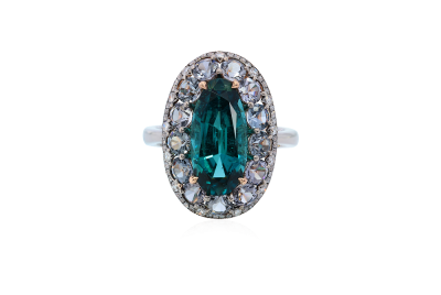 IVY-Indigolite Tourmaline-spinelle-diamants-bague