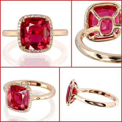 IVY - Mogok  - red spinel - diamonds