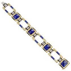 RAYMOND C. YARD-lapis lazuli-bracelet-or