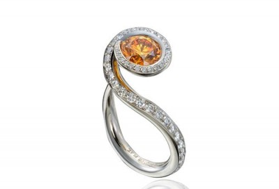 Orange diamond - diamonds - ETIENNE PERRET