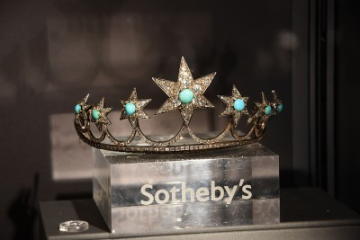 Tiare en diamants et turquoise circa1870