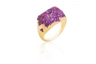 Nada Ghazal - Bague - Ring - saphirs - purple sapphires -