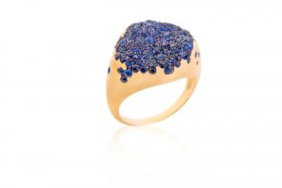 Nada Ghazal - Bague - Ring - saphirs - sapphires - BABY-MALAK-BONBON-ROUND
