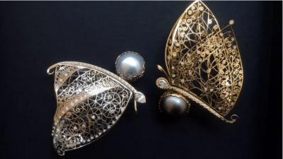Boucles d'oreilles papillons - Butterflies earrings