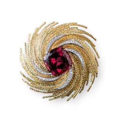 Broche pendentif rubéllite - Rubellite Brooch Pendant, 2010