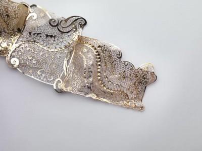 Détail d'un bijou d'exposition - Exposition jewel detail