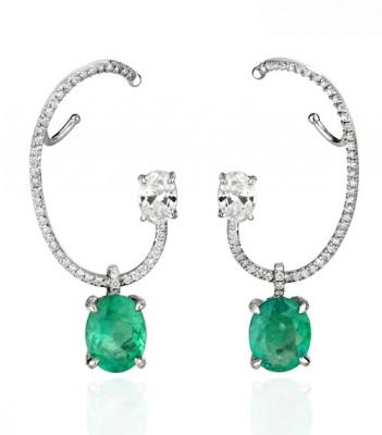 boucles-d-oreilles-ethereal-emeraudes-diamants-Ana Khouri