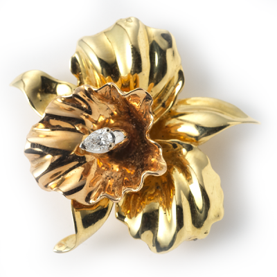 Broche orchidée avec diamant - Orchid with Diamond, 2016