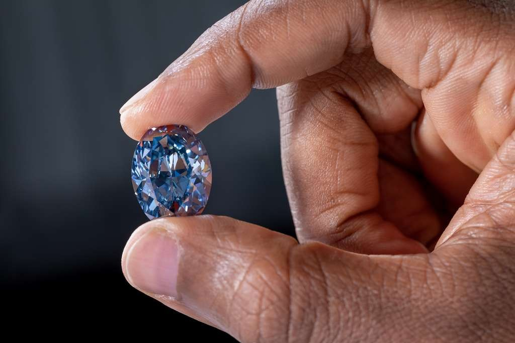 Diamant bleu OKAVANGO BLUE 20,46ct