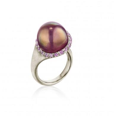 #NAOMI SARNA #Chinese freshwater Pearl #purple Garnets