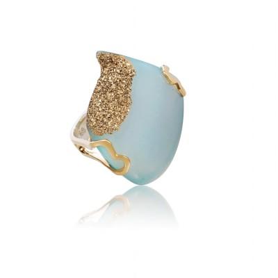 PALOMA SANCHEZ Drusy agate, 22K gold