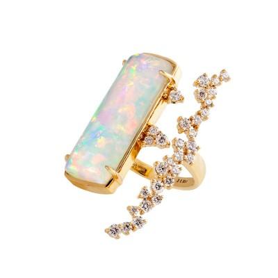 PALOMA SANCHEZ Ethiopian opal - diamonds