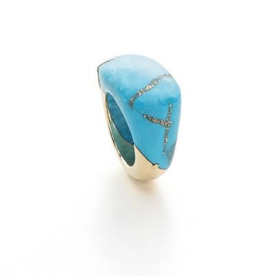 PALOMA SANCHEZ Sleeping beauty turquoise with pyrite
