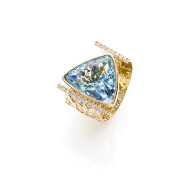 PALOMA SANCHEZ aquamarine and diamonds