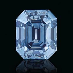 Diamant bleu de 7.03ct sur une bague de Moussaieff
