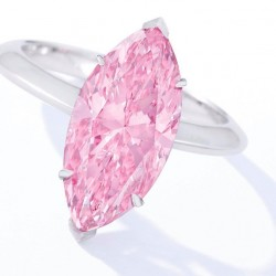 "Un exceptionnel diamant rose de 4.05ct ""intense purplish pink diamond"""