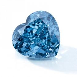 Un superbe diamant bleu de forme coeur de 5.04ct