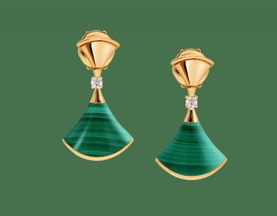 BULGARI-earings-malachite-diamonds