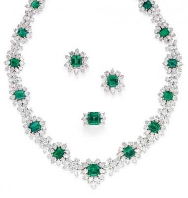 DAVD MORRIS - parure - émeraudes - diamants - vente Christie's