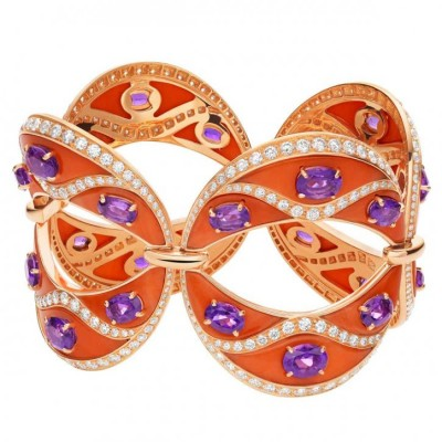 BULGARI-bracelet-pink gold-amethysts-diamonds