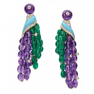 BULGARI-earings-turquoise-amethyst-emerald
