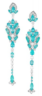 DAVID MORRIS - Earrings - Paraiba tourmalines - diamonds